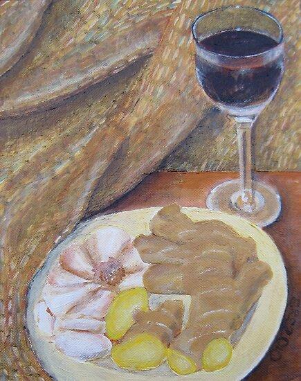 Wine, Ginger, and Garlic by Shani Sohn