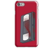 Bloody VHS Tape iPhone Case/Skin