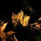 Fire in the dark.  by Jeff Stroud