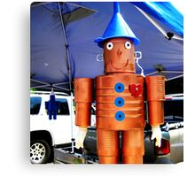 farmers market tin man Canvas Print