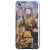Fallen Soldier Angel Print iPhone Case/Skin