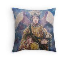 Fallen Soldier Angel Print Throw Pillow