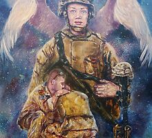Fallen Soldier Angel Print by 1cscheid