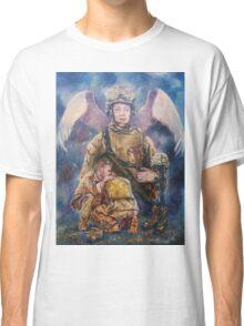 Fallen Soldier Angel Print Classic T-Shirt