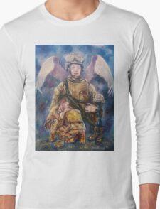 Fallen Soldier Angel Print Long Sleeve T-Shirt