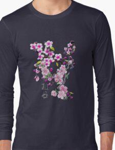 Japanese Cherry Blossoms Long Sleeve T-Shirt