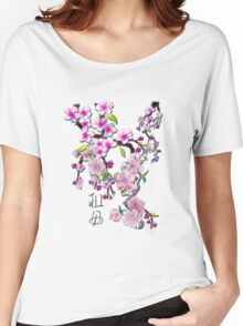 Japanese Cherry Blossoms Women's Relaxed Fit T-Shirt