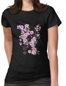 Japanese Cherry Blossoms Womens Fitted T-Shirt