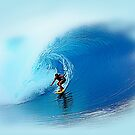 Big Wave Rider Surfing Art by Delights