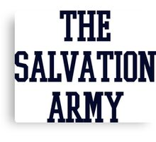 salvation army college navy blue Canvas Print