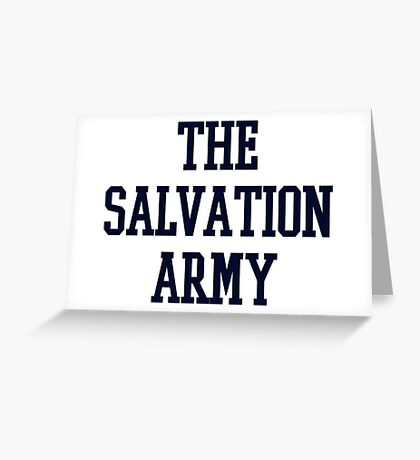 salvation army college navy blue Greeting Card