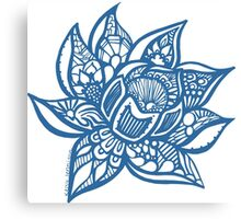 lotus_blue Canvas Print