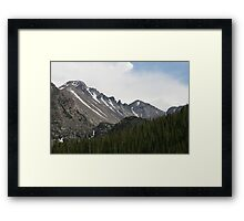 Snow Of The Rockies Framed Print