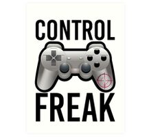 Control Freak Pun Video Game Controller Gamers Art Print