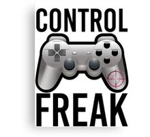 Control Freak Pun Video Game Controller Gamers Canvas Print