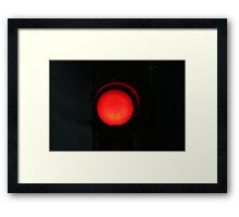 Dark Red Framed Print
