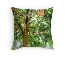 LONDON GARDEN 2 ~ Cycle Of The Human With Nature  Throw Pillow