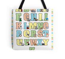 Animal Alphabet Poster Tote Bag