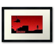 Metal Gear Solid || Wallpaper Framed Print