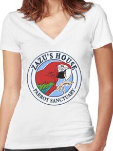 Zazu's House Logo Women's Fitted V-Neck T-Shirt