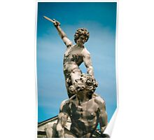 Sculpture in Courtyard Poster
