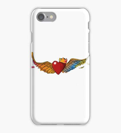 flying crowned heart iPhone Case/Skin