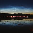 Noctilucent Clouds reflected in Loch Linnhe. by John Cameron