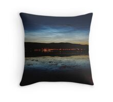 Noctilucent Clouds reflected in Loch Linnhe. Throw Pillow