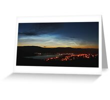 Noctilucent Clouds over Loch Linnhe and Fort William.. Greeting Card
