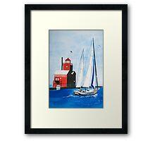 Leaving The Harbor Framed Print