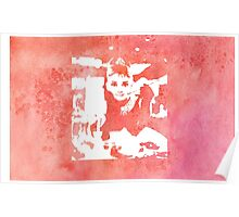 Audrey Hepburn Iconic Breakfast at Tiffany's Watercolour Red    Poster