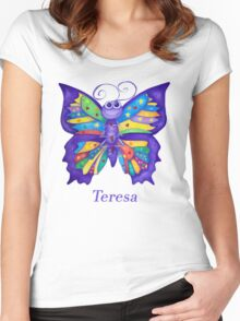 A Yoga Butterfly for Teresa Women's Fitted Scoop T-Shirt