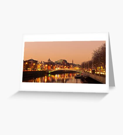 Morning on the Liffey Greeting Card