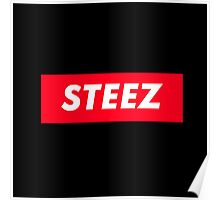 CAPITAL STEEZ SUPREME CLOTHING BRAND LOGO Poster