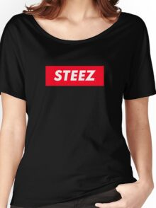 CAPITAL STEEZ SUPREME CLOTHING BRAND LOGO Women's Relaxed Fit T-Shirt