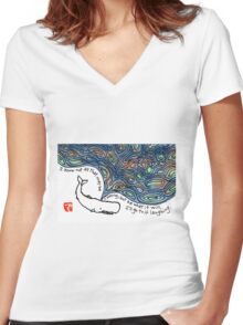 Moby Dick v.3 Women's Fitted V-Neck T-Shirt