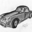 MGA Hard Top - Classic Car by BigBlue222