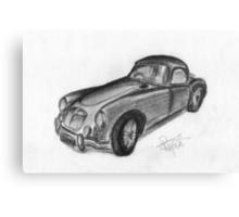 MGA Hard Top - Classic Car Canvas Print