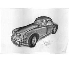 MGA Hard Top - Classic Car Poster