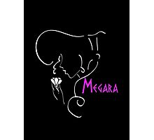 Megara´s outline in white Photographic Print