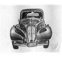 1937 Citroen - Classic Car Poster
