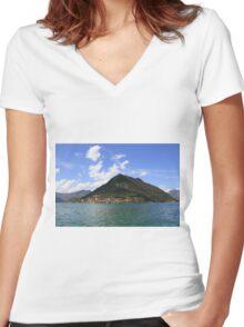 Montisola Women's Fitted V-Neck T-Shirt