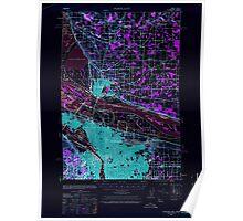 USGS Topo Map Oregon Portland 282800 1940 62500 Inverted Poster