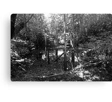 Bridge to the Green Canvas Print