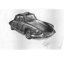 Joe's Citroen DS - Classic Car Poster