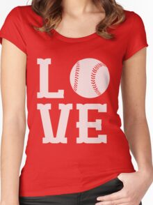 Baseball Love Women's Fitted Scoop T-Shirt