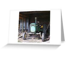 Old John Deere Greeting Card