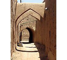 Streets of Yazd, Iran Photographic Print