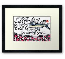 Heart Fish (v.3) Framed Print