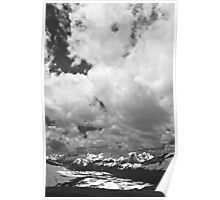 Never Summer Range and Clouds Poster